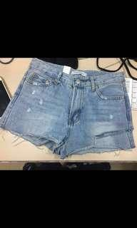 Slash Denim Shorts