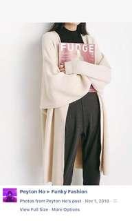 🚚 超顯瘦繭型中長毛衣外套