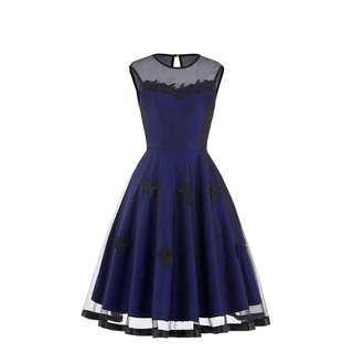 Belle Poque Taffeta Lace Dress