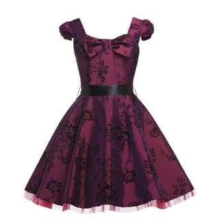 Grace Karin Taffeta Wine Dress