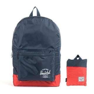 🚚 Herschel Supply Packable Daypack 可攜式背包 Navy/Red 深藍 紅 可收納式 防潑水