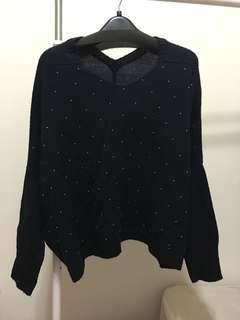 🚚 藍色毛衣