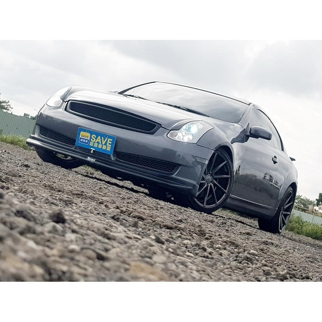 2005年 無限 G35 COUPE 手自排 恆溫 定速 空力套件 19吋鋁圈 一手車 車況極佳!