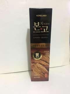 韓國 康研莉寶 絊固紅參去漬防蛀牙膏