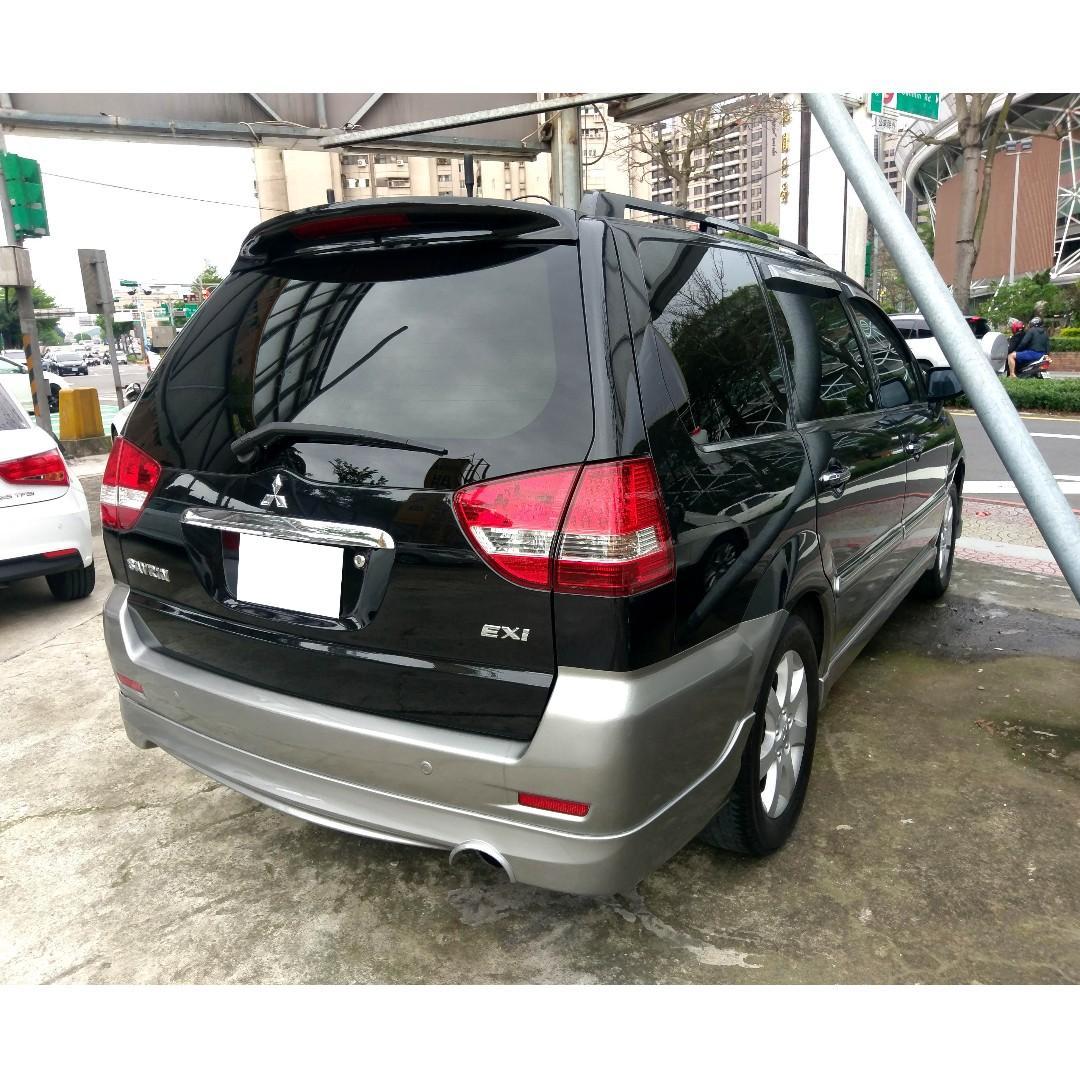 2006年Mitsubishi Savrin 2.0 7人座 黑 『阿賢精選車坊』賞車專線:0908169110