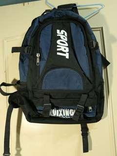 🚚 限時優惠🎈耐磨厚質帆布黑藍大容量包包-登山旅遊必備!!