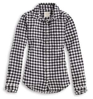 Lativ法蘭絨格紋襯衫