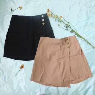 Celana Rok hitam / cream