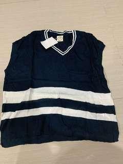 Kaos atau outer polos navy knit