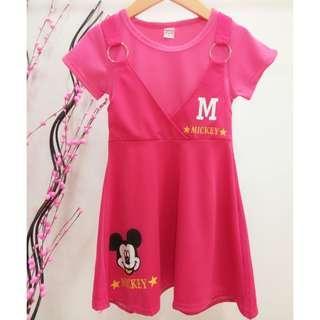 #Clear Stock# Mickey Girls Dress ab070