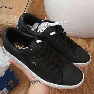 Keds Ace Leather Black Sneakers