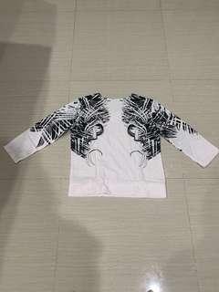 Black white blouse