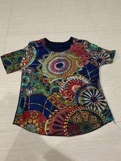 Abstract top navy reccomended