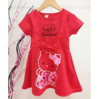 #Clear Stock# Hello Kitty Girls Dress ab071