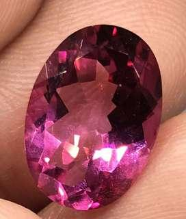 7 cts Natural African Pink Topaz Oval 14 x 10 x 6.2 mm Loose Gem
