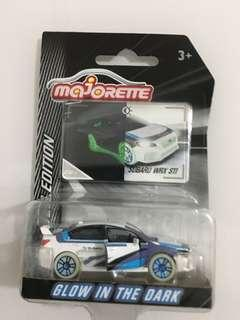 Majorette Subaru WRX glow in the dark 1/64