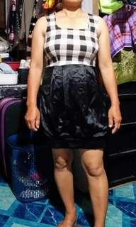Super Elastic Checkered dress