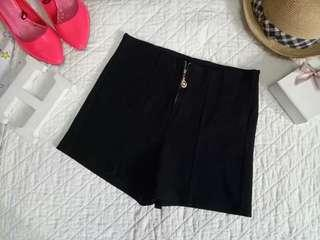 Black highwaisted shorts