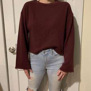 Burgundy Urban Planet Sweater