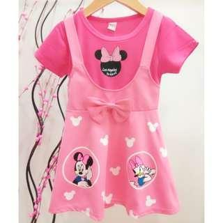 #Clear Stock# Mickey & Donald Ducks Girls Dress ab072