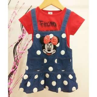 #Clear Stock# Mickey Girls Dress Jeans ab073