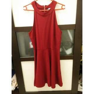 H&M Halter Red Dress