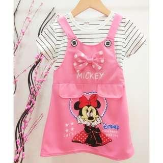 #Clear Stock# Mickey Girls Dress ab076