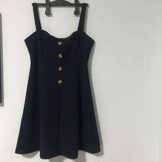 Navy blue flared dress