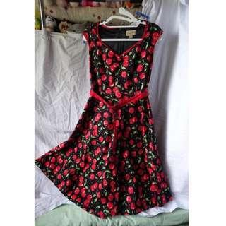 Lindy Bop Black Cherry Dress