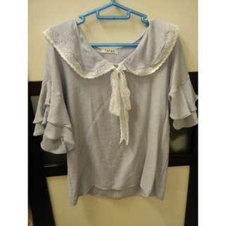 Pastel blue blouse