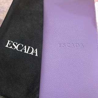 全新 Escada 紫色證件套