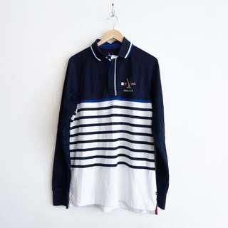 Nautica Long Sleeve zipped polo shirt