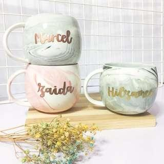 Customisable marble mugs calligraphy day wedding birthday gift gifts Mug round present presents farewell colleague colleagues coffee cheap bulk teacher corporate couple anniversary cup cups Mug personalise personalised customise customised day Friend