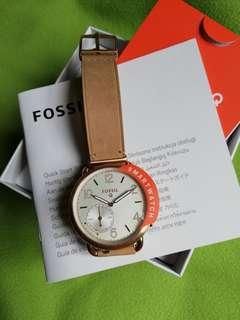 🈹💢Fossil Q Smartwatch Tailor leather strap watch 女裝智能手錶