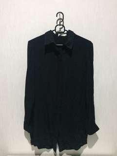 Kemeja hitam jenahara (open back)