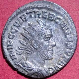 🚚 Rare Antoninianus of Trebonianus Gallus, Ancient Roman Coin 251 - 253 AD