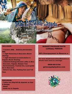 3d2n All in Buscalan Sagada Weekends Joiners Getaway2019 JOINERS