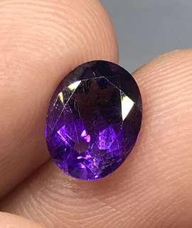 1.50 cts Natural Amethyst Oval 6.9 x 9 mm Loose Gem