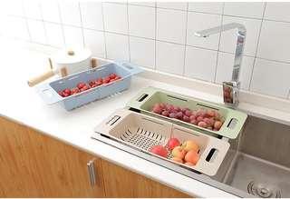 可伸縮廚房水槽瀝水架