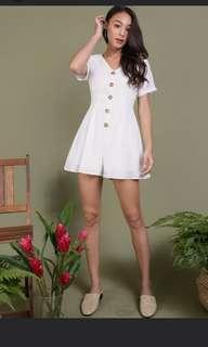 TTR Maddie Romper in white