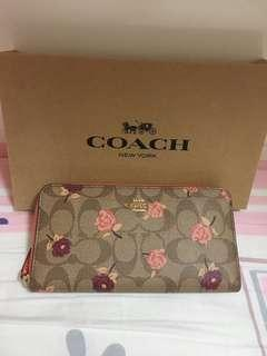 Coach 長銀包 花花wallet