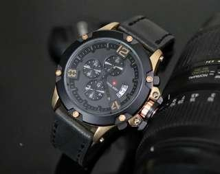 Jam Tangan Swiss Army 003 Strap Leather