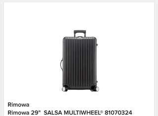 """全新Rimowa 29"""" SALSA MULTIWHEEL @81070324"""