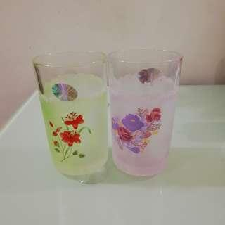 Glasses - Vintage  printed floral / flower design