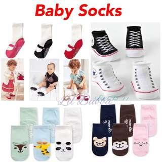 🚚 [Ready Stock] Anti Slip Baby Socks (0-1 year old)