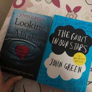 Novel The Fault in Our Stars & Looking For Alaska (bundle)