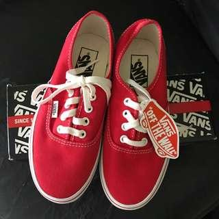 Authentic Vans Red