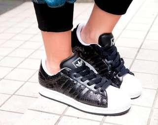 Size 5.5-6 | Preloved Authentic Adidas Superstar 2 II Bling Edition
