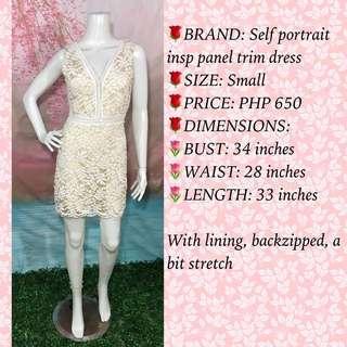 SELF PORTRAIT INSPIRED PANEL TRIM DRESS