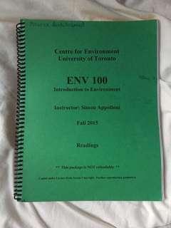 ENV100 (Intro to Environment)